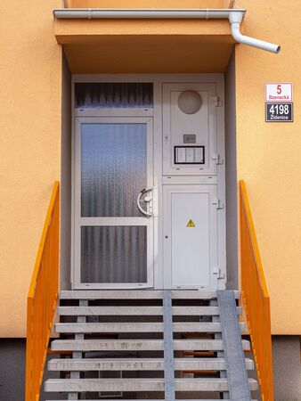 This is entrance to the house in Brno.