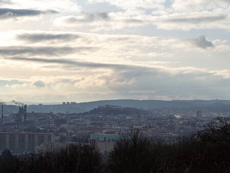 This is a view of the city of Brno.