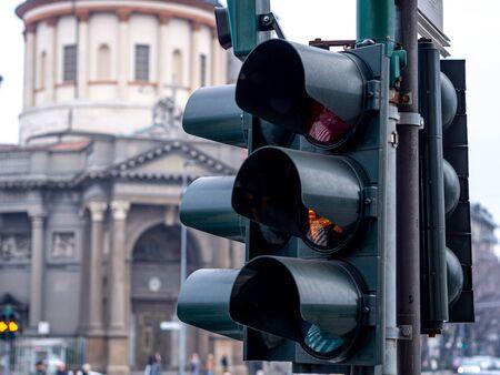 This is Bergamo Street, Italy. Stockfoto