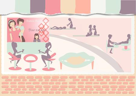 traditional thai massage shop in flat design Illustration