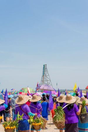 d�collage fus�e: Traditonal Thai Rocket Launch Festival launch on a sky background