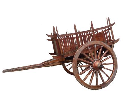 thai traditional cart isolated on white background Reklamní fotografie