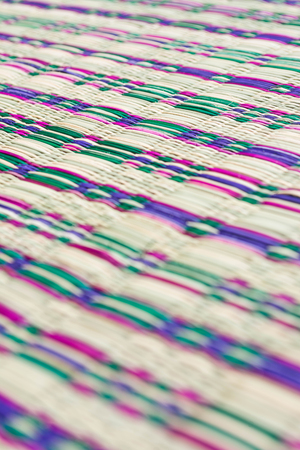 straw mat: colorful typical thai style straw mat pattern