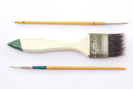 paintbrushes: paintbrushes on white Stock Photo