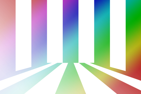 circulate: white and black line abstract background with colorful gradient Stock Photo