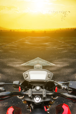 vector tyre: motorcycles on colorful gradient background