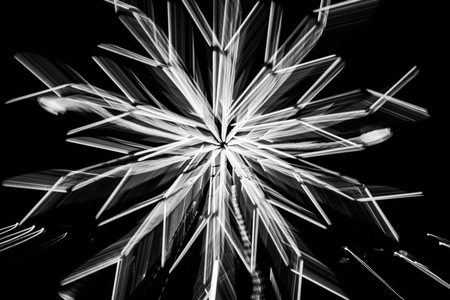 festival of lights: Abstract motion blur of lights bokeh in festival at night  in white tone