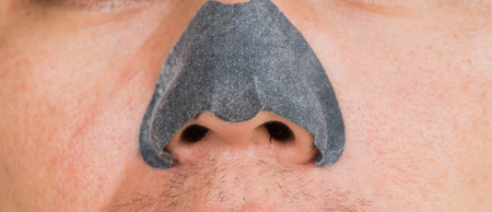 pores: nose black pore pack on nose
