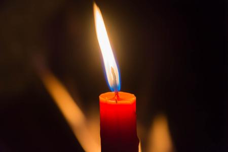 candlelight on black background