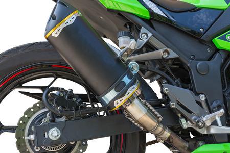 オートバイの排気管