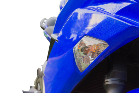 taillight: taillight of motorcycle isolated on white background Stock Photo