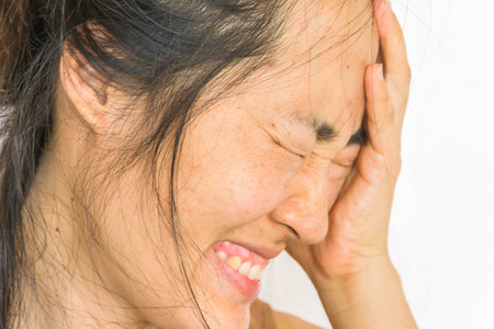 fear: depress and fear woman