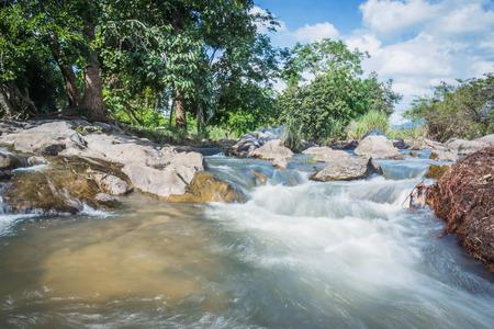 swiftly: motion blur of Waterfall in Maewong national park at Nakhonsawan, Thailand.
