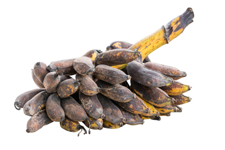 bunch of rotten banana isolated on white
