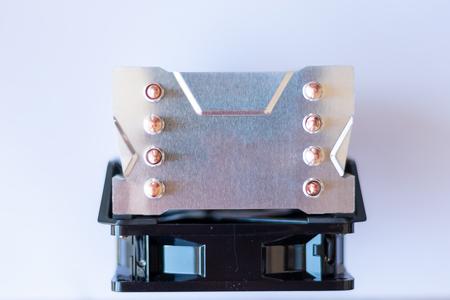 cooling fan system of computer on white background Reklamní fotografie