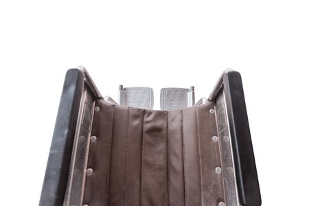 Top view of Wheel chair seat with Footrest isoated on white