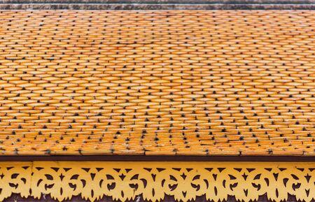 Beautiful golden art roof of buddhist temple