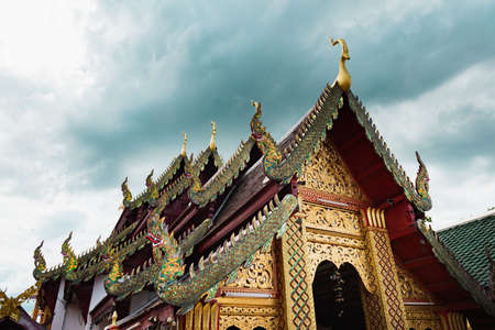 Buddhist Temples, in Wat Phra That Doi Suthep, a complex of Buddhist Temples in Chiang Mai Banco de Imagens