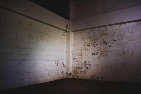 the dark corner of old Abandoned building