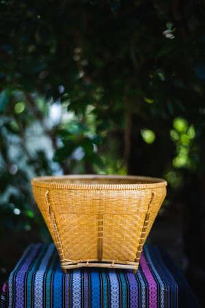 bamboo wicker basket