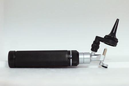 examiner: otoscope Stock Photo