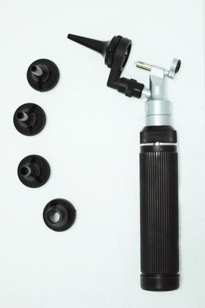 eardrum: otoscope Stock Photo