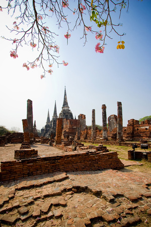 holiest: Wat Phra Si Sanphet located in Ayutthaya Historical Park of Thailand. The holiest temple of the old Royal Palace in Ayutthaya period of Siam.