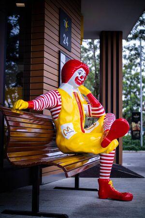 Nakhon Pathom / Thailand - July 8, 2018: Ronald McDonald, a clown character (mascot) of the McDonald's.
