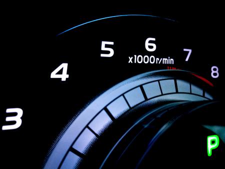 Close up of car dashboard in the dark. Stock fotó