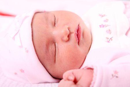 Newborn baby on white background. Beauty image Stock Photo - 5955195