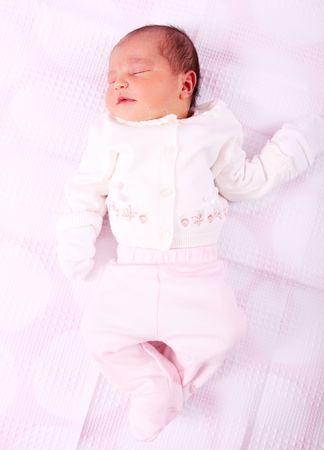 Newborn baby on white background. Beauty image Stock Photo - 5955189