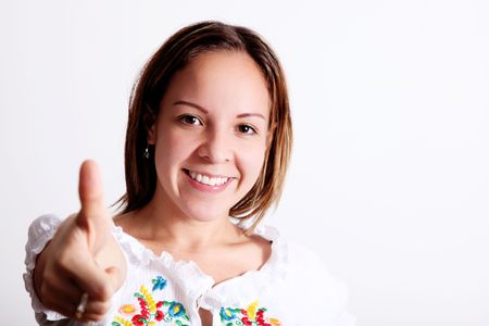 Young woman looking at camera and smile Stock Photo - 5955194