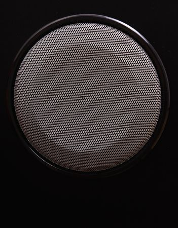 Gray speaker over black background. Sound image Stock Photo - 5880039