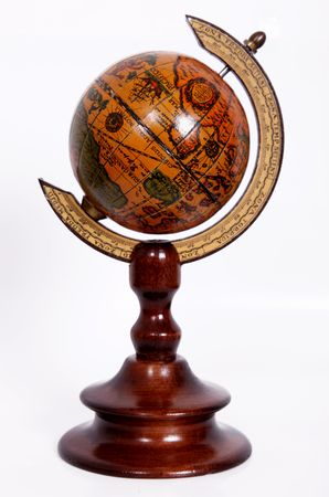 Object with a rotating Ancient World, on a white background Stock Photo - 5879728