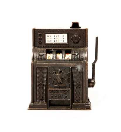 Game old machine over white background. Isolated image Stock Photo - 5931494