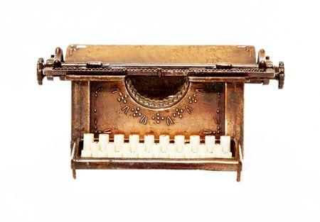 old write machine over white background. Retro, Isolated Stock Photo - 5931513