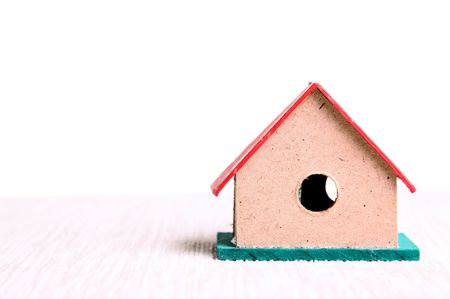 Small house on a white background, Real state photo