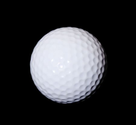 White golf ball over black background. Isolated image Stock Photo - 6069107