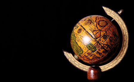 Old world over black background. Space to insert text or design Banco de Imagens - 6099485