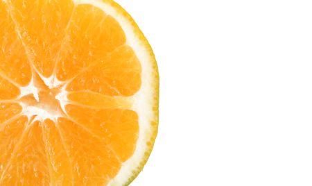 Orange slice over white background. Isolated image Stock Photo - 6196277