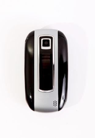 Black mobile phone over white background. Technology image Stock Photo - 6268463