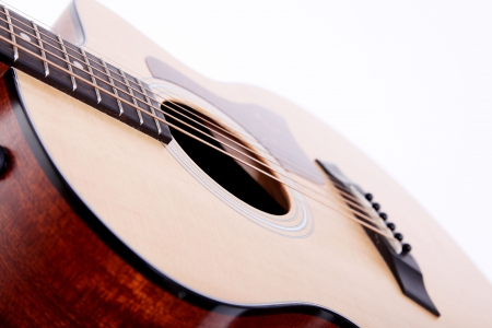 winter blues: Classical guitar on white background. Music image