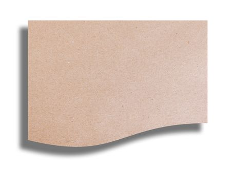Cardboard texture. Empty to insert text or design. Isolated image Stock Photo - 6287209