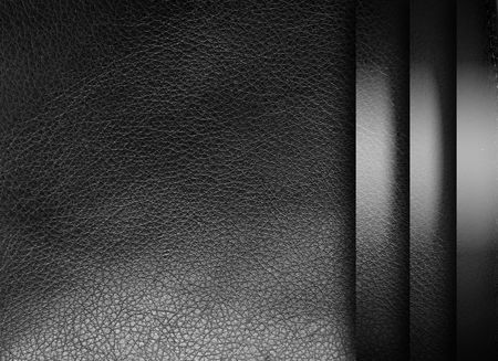 Black leather texture with chrome sheets. Background