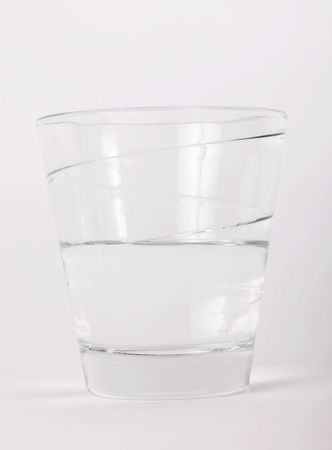 Glass with water over white background. Drink image Stock Photo - 6365820