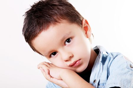 new thinking: child support for his face in his hands with sad attitude
