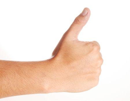 Hand, with thumb upward. Ok signal. Ioslated image Stock Photo - 6661260