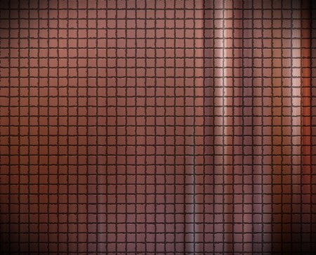 texture brown with squares and illuminated waves  Stock Photo - 7064932