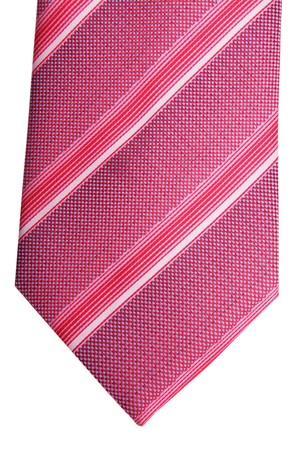 transverse: Magenta tie with transverse lines. Clothing accessory