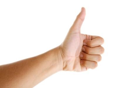 Ok hand sign over white background. Isolated image Stock Photo - 7549670